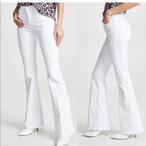 FRAME Le High Flare Jean in Blanc White 25 NWT